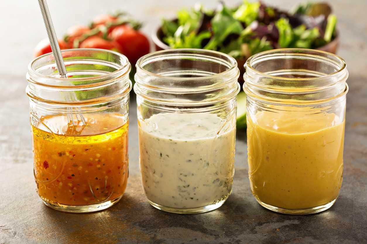 Обезжиренные заправки для салатов