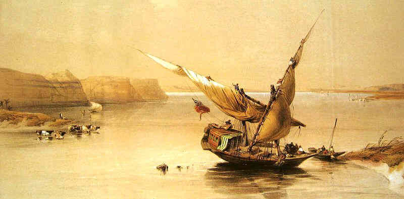 Парусные лодки были впервые изобретены в Египте